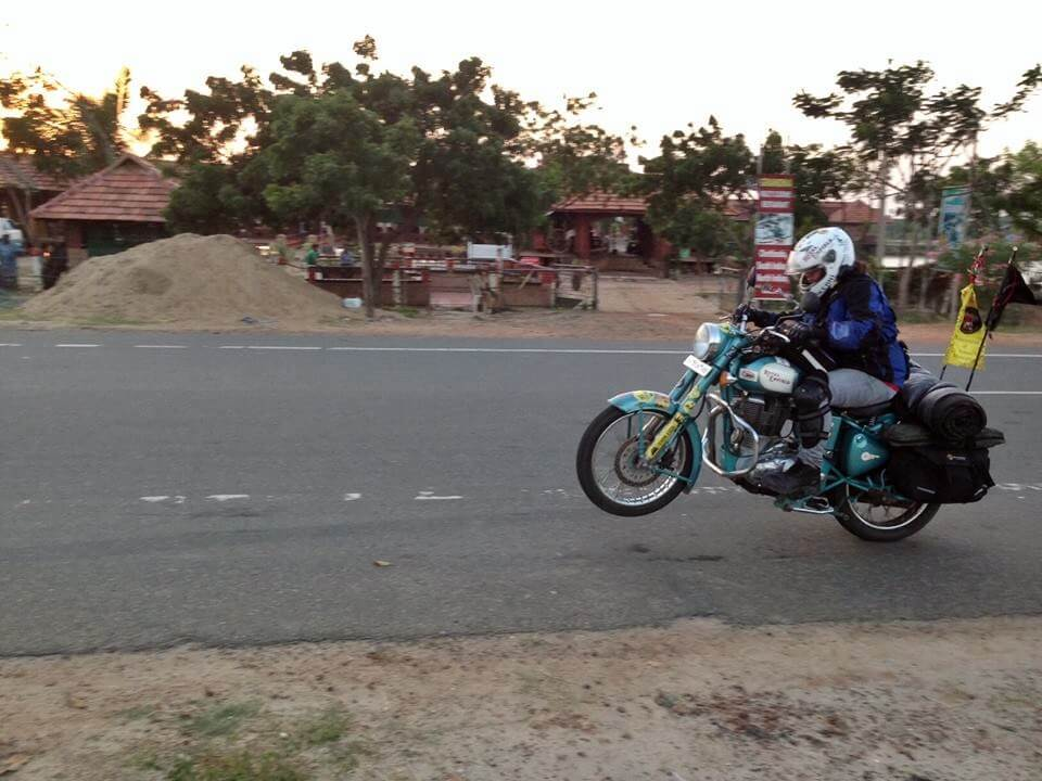 wheeling a royal enfield