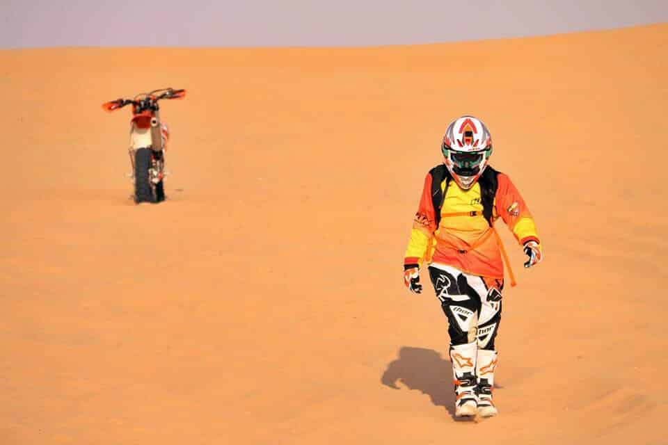 A rider in the desert.