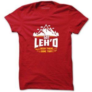 Bike trip to ladakh tshirt