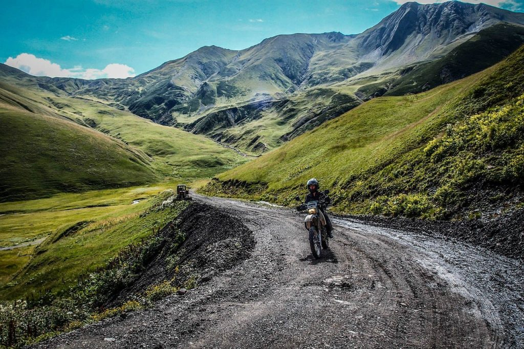 challenging yourself on a motorcycle trip