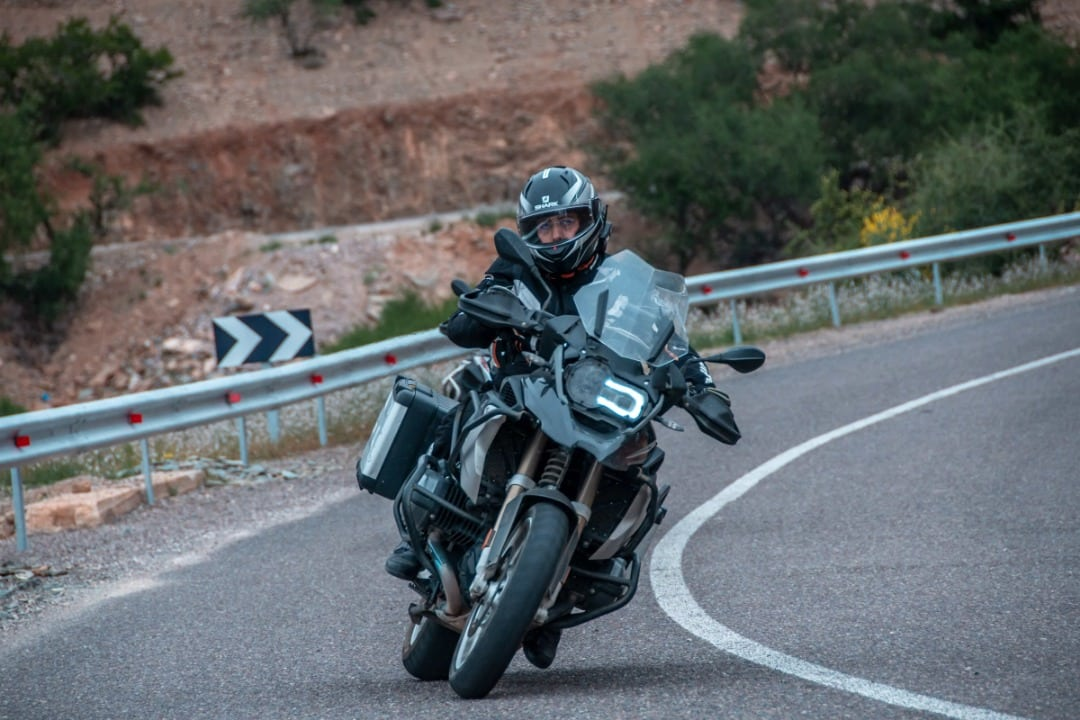 solo traveling on a BMW gs