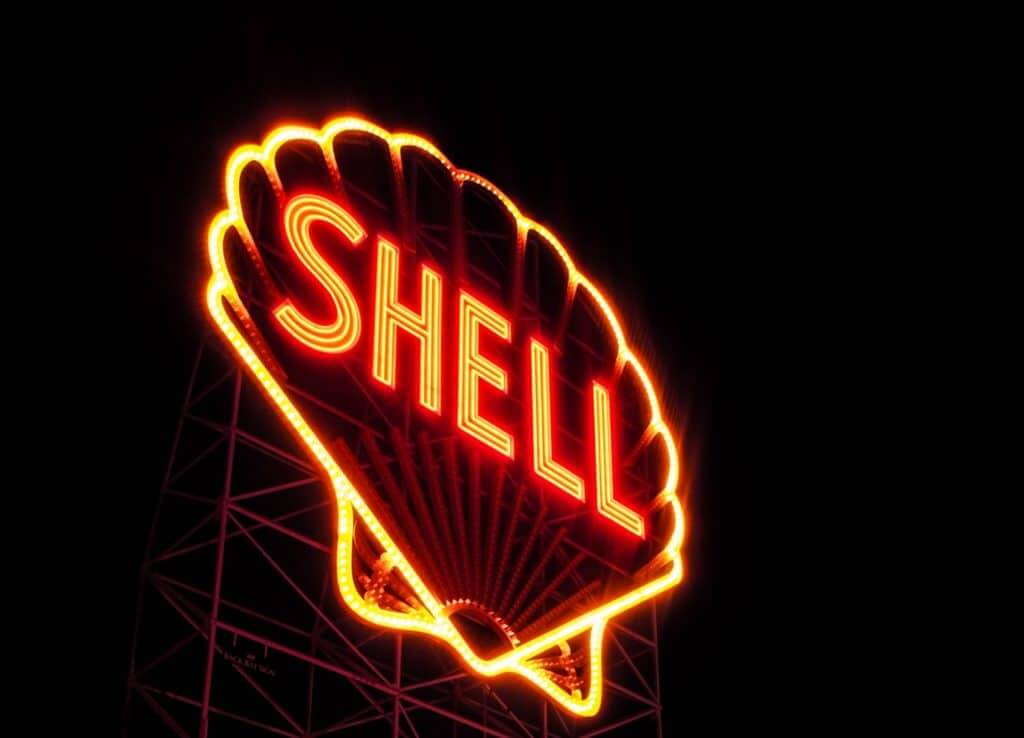 shell sign board