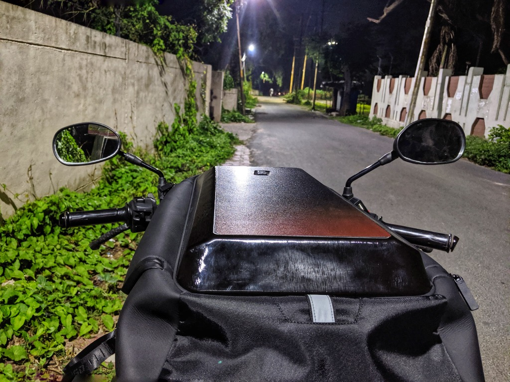 a tech backpack for bikers