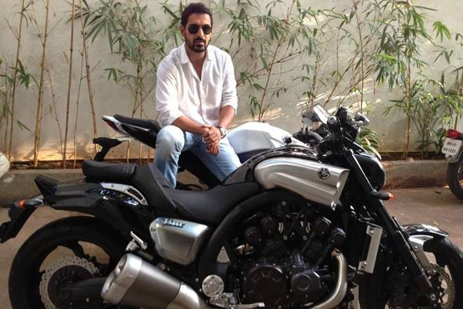 This video of John Abraham will give riders some serious garage goals.