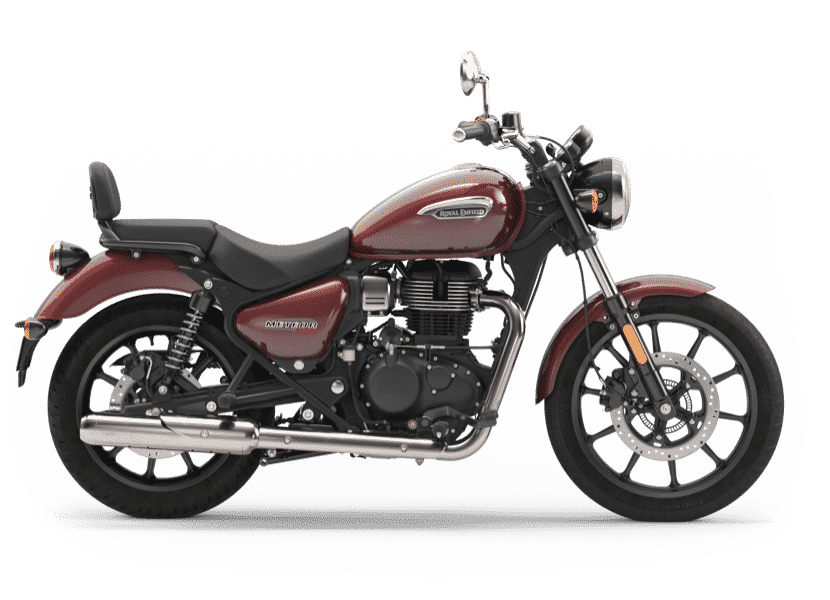 brown colour crusier motorcycle by Royal Enfield
